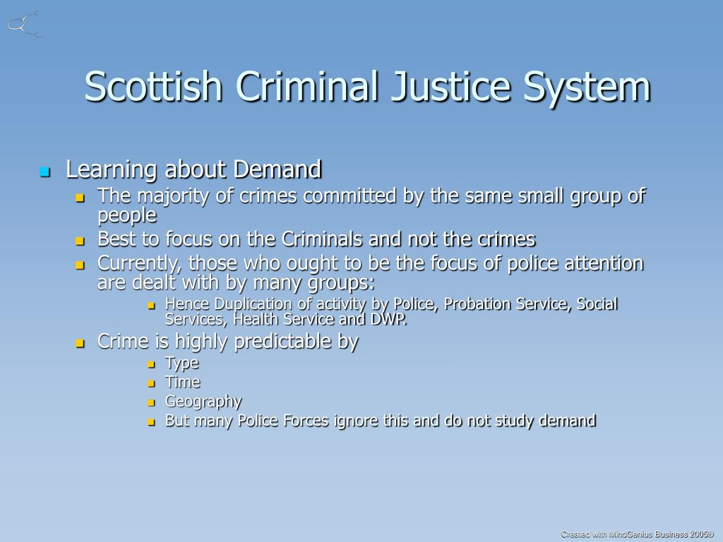 Scottish Criminal Justice System