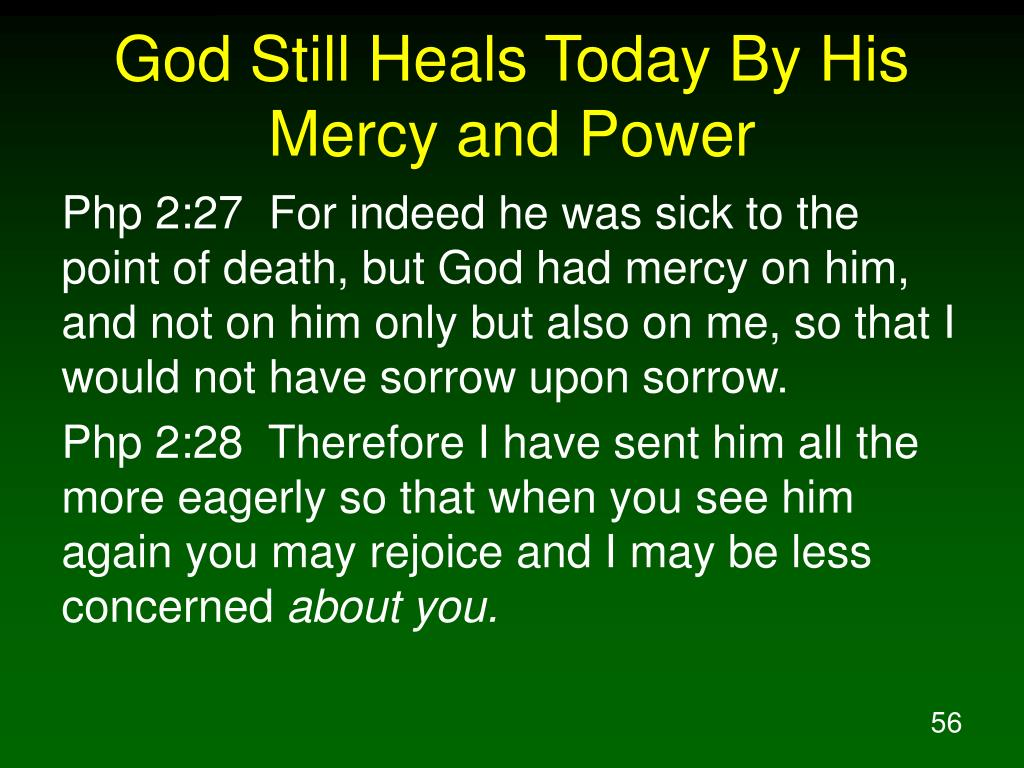 God Still Heals Today By His Mercy and Power