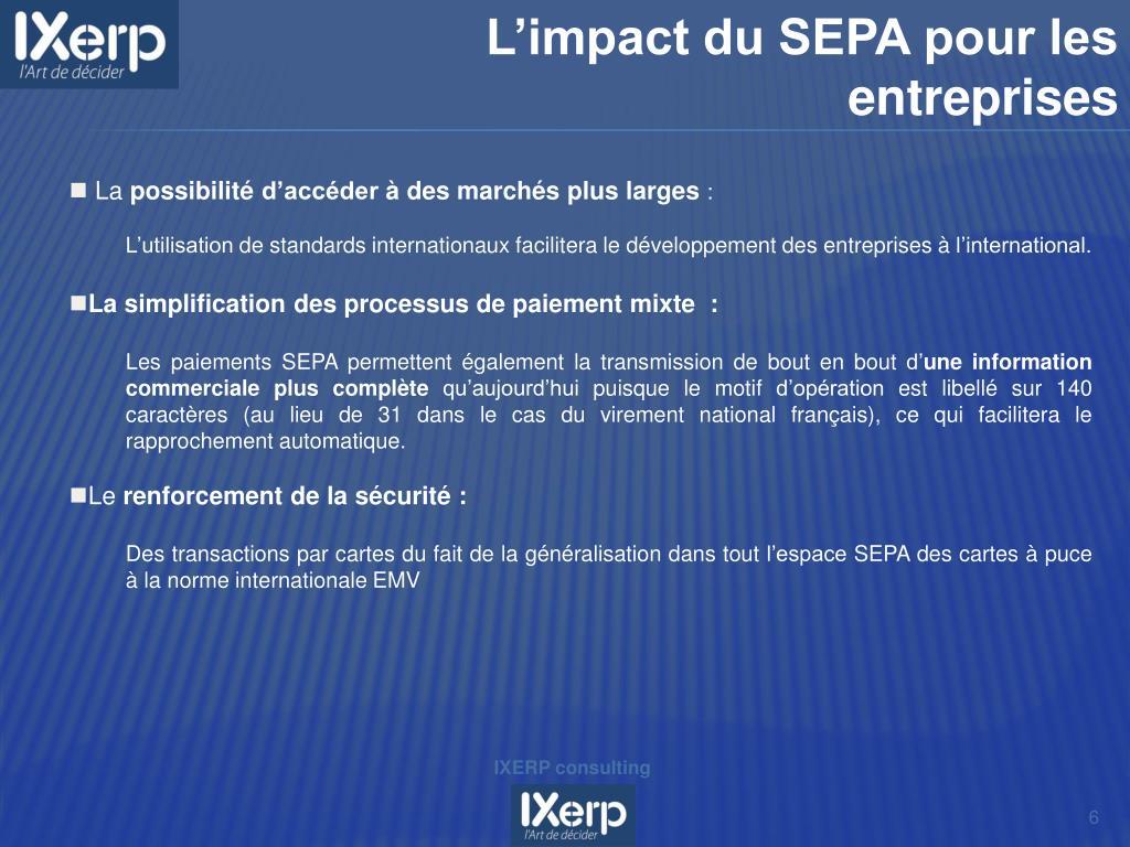 L'impact du SEPA pour les entreprises
