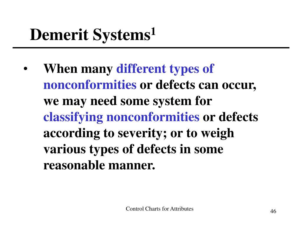 Demerit Systems