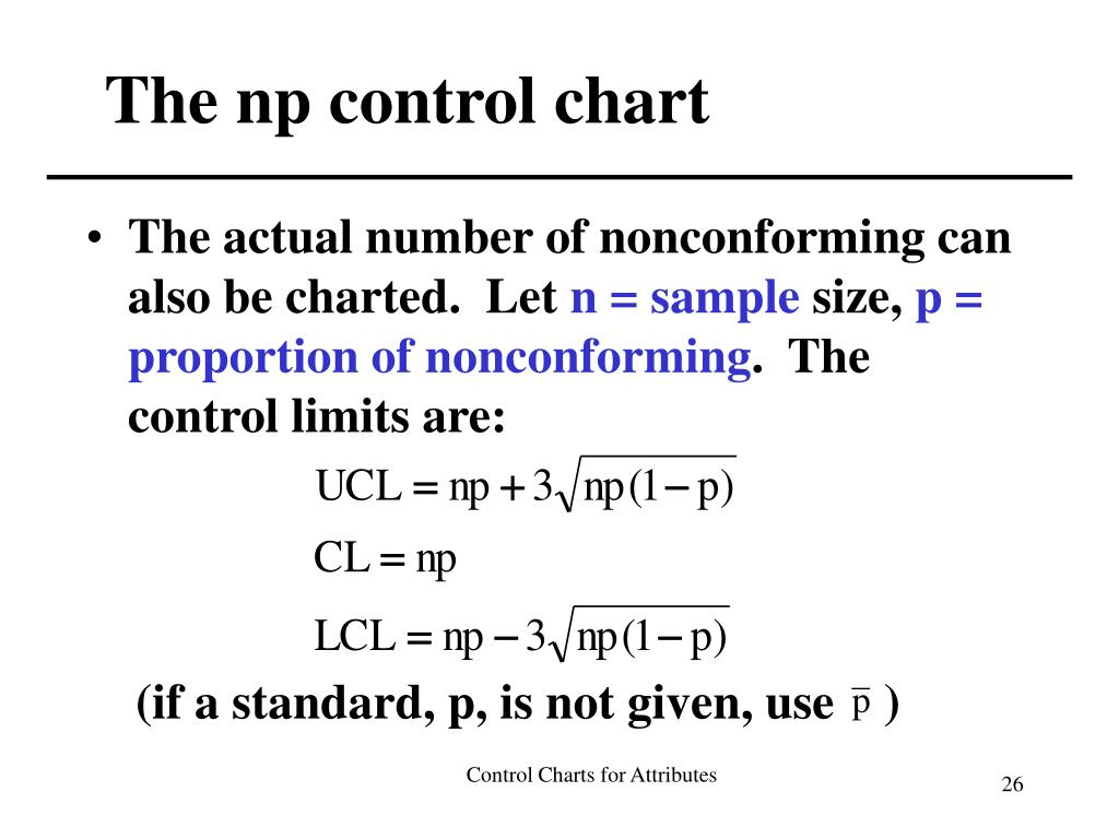 The np control chart