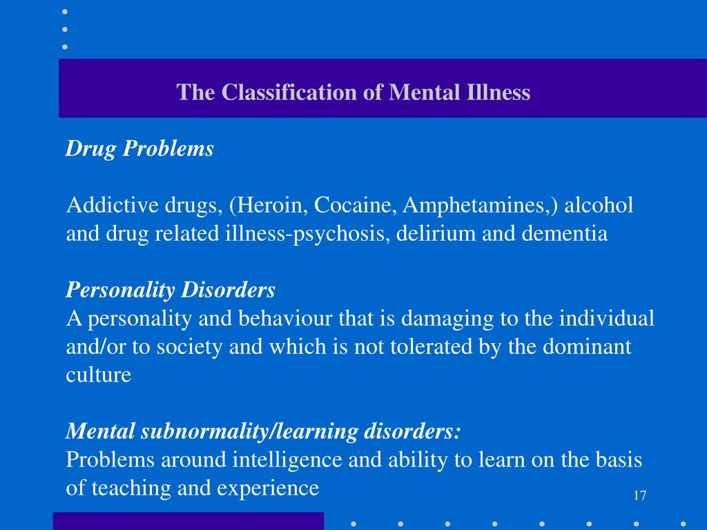 The Classification of Mental Illness