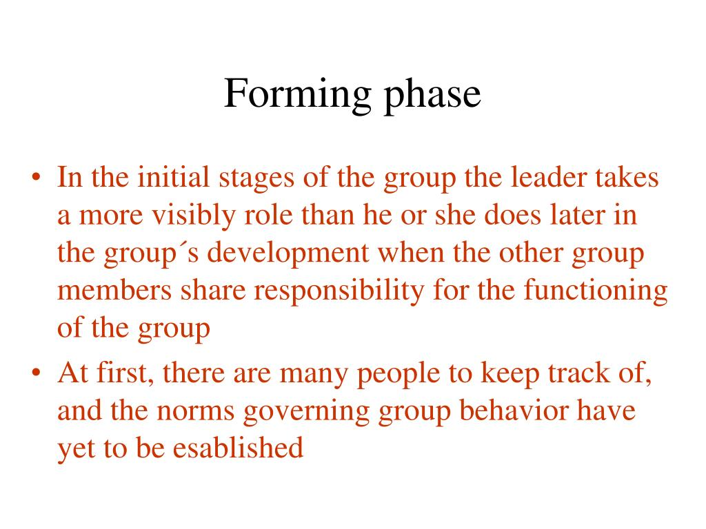 Forming phase