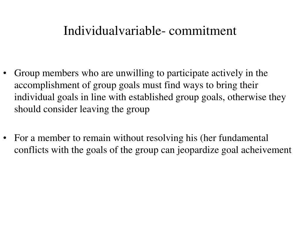 Individualvariable- commitment