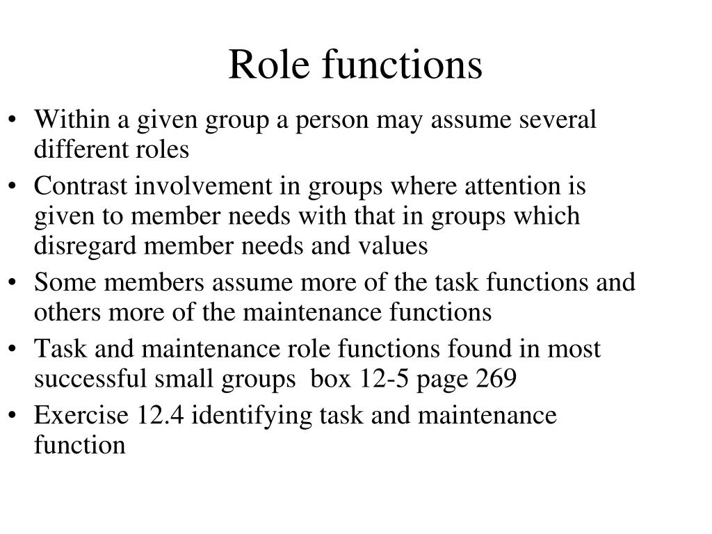 Role functions