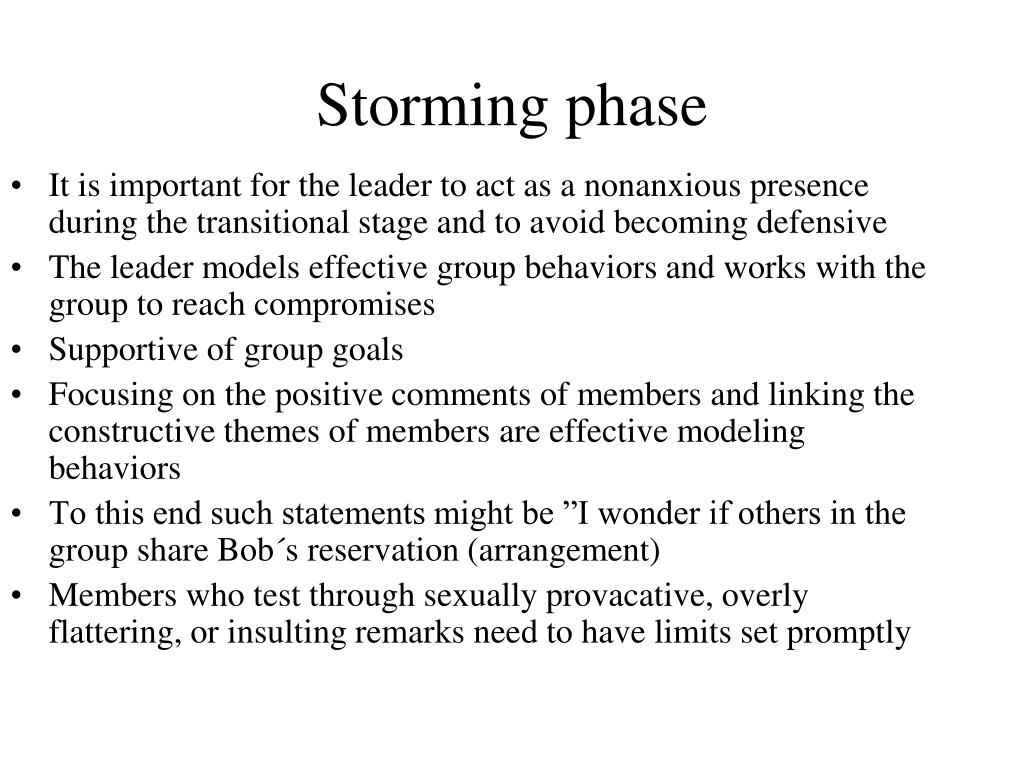 Storming phase