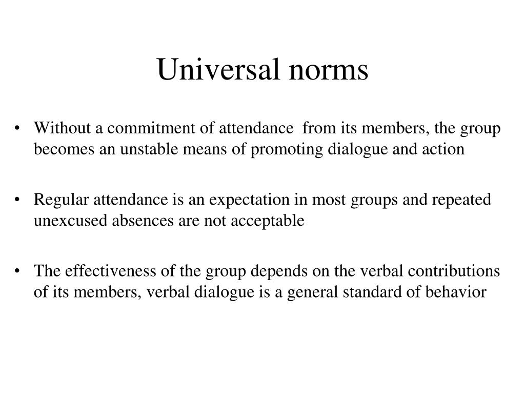 Universal norms