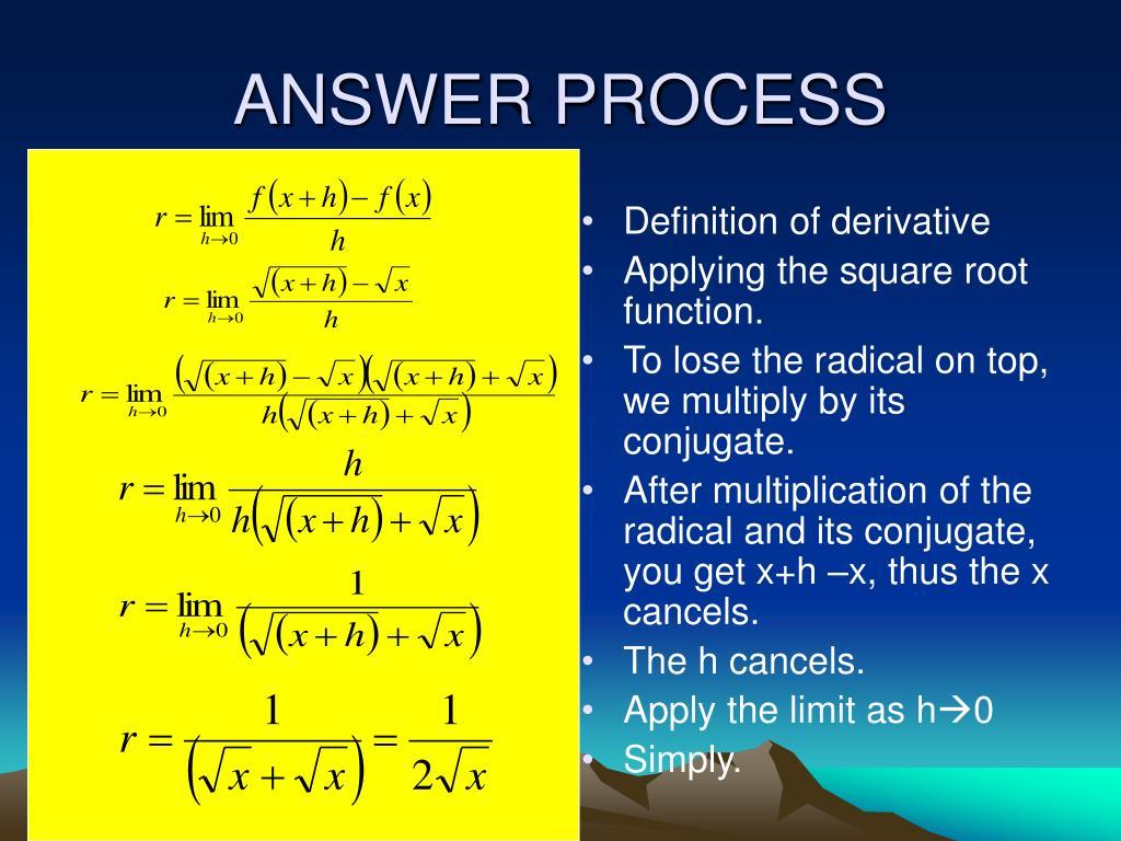 ANSWER PROCESS