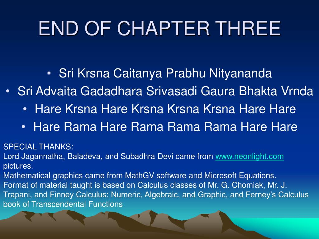 END OF CHAPTER THREE