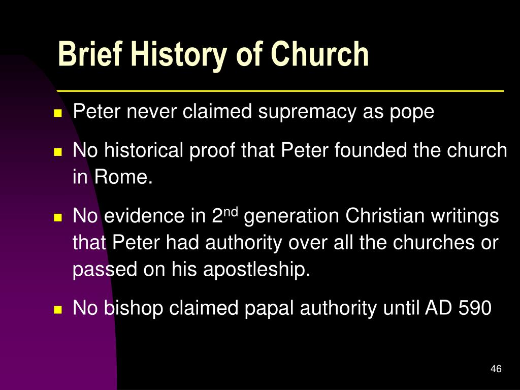 Brief History of Church
