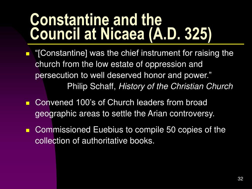 Constantine and the Council at Nicaea (A.D. 325)
