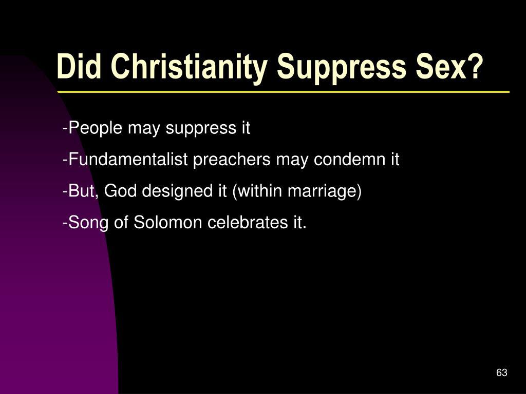 Did Christianity Suppress Sex?