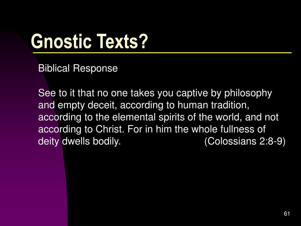 Gnostic Texts?