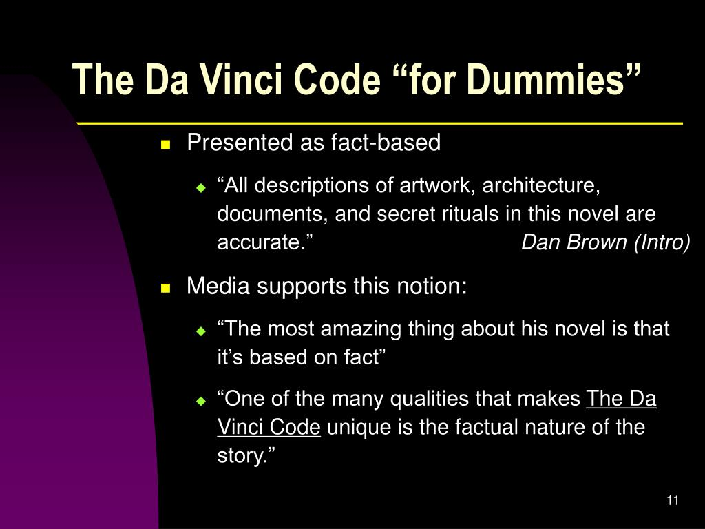 "The Da Vinci Code ""for Dummies"""