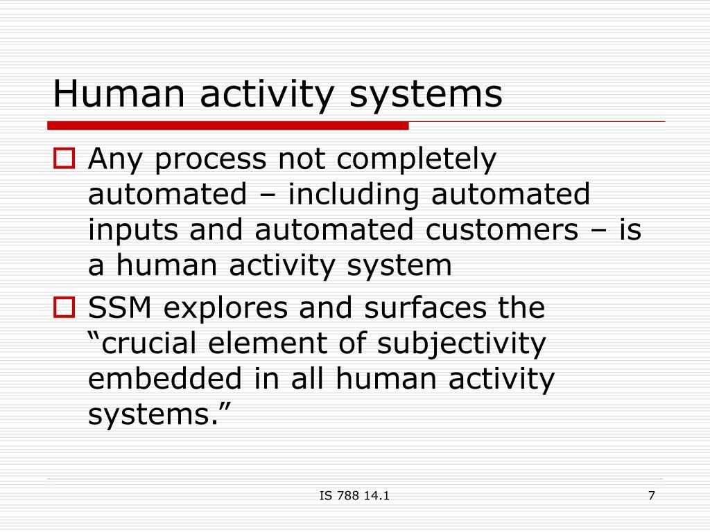 Human activity systems