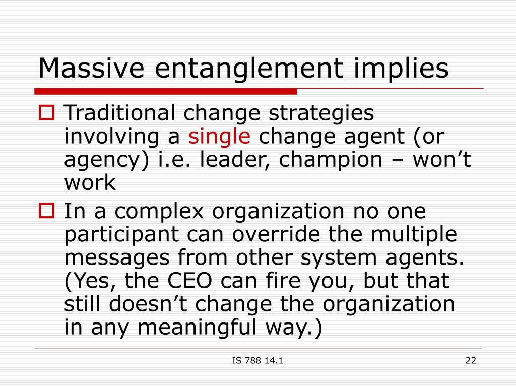 Massive entanglement implies