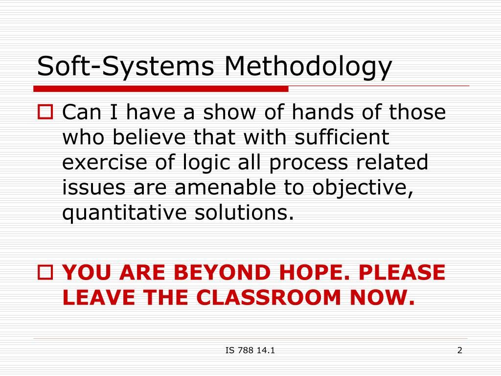 Soft-Systems Methodology
