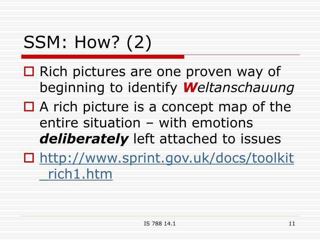 SSM: How? (2)