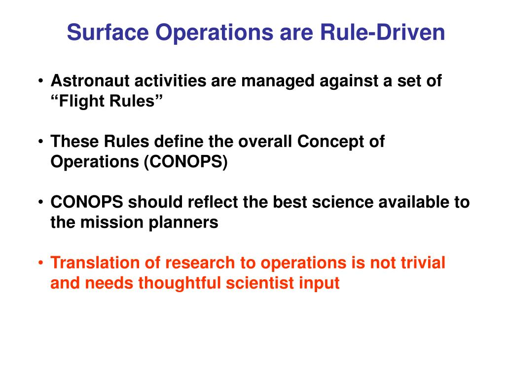 Surface Operations are Rule-Driven