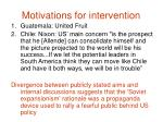 motivations for intervention