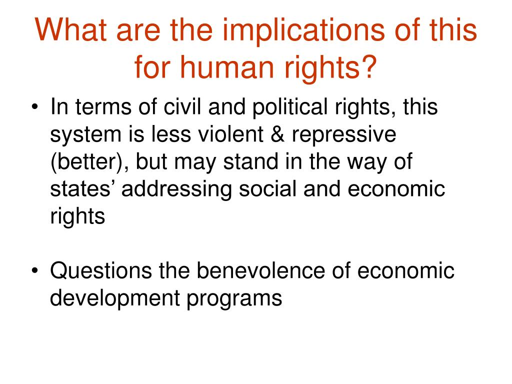What are the implications of this for human rights?
