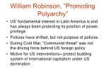 william robinson promoting polyarchy