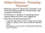 william robinson promoting polyarchy9
