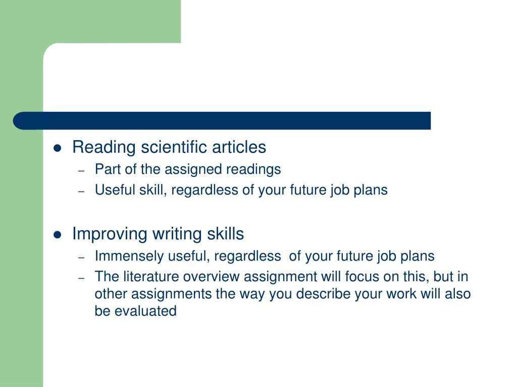 Reading scientific articles