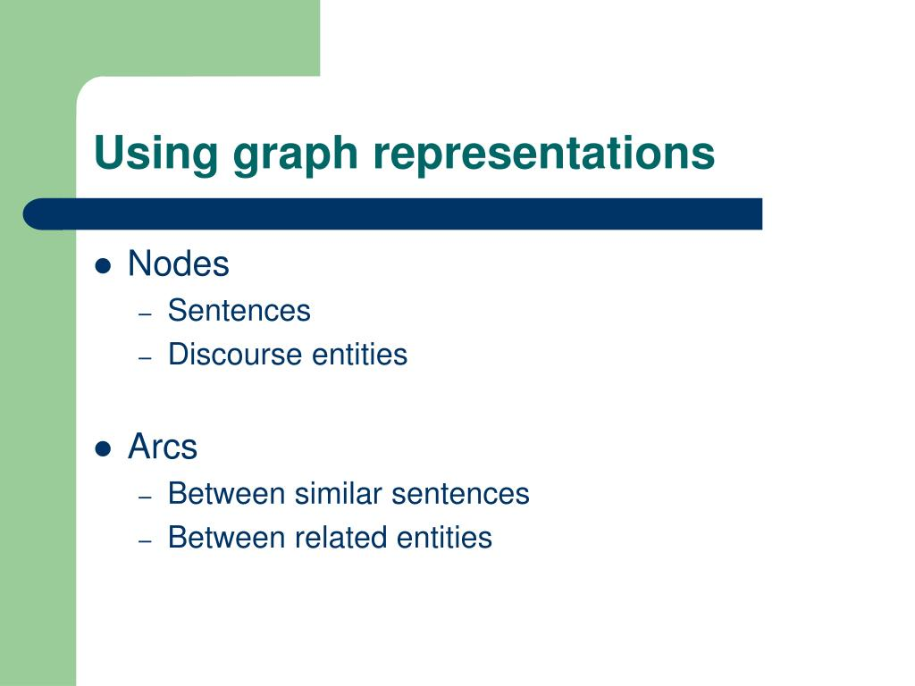 Using graph representations