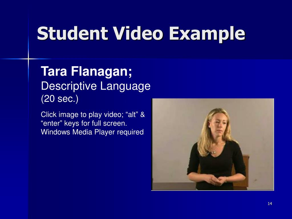 Student Video Example