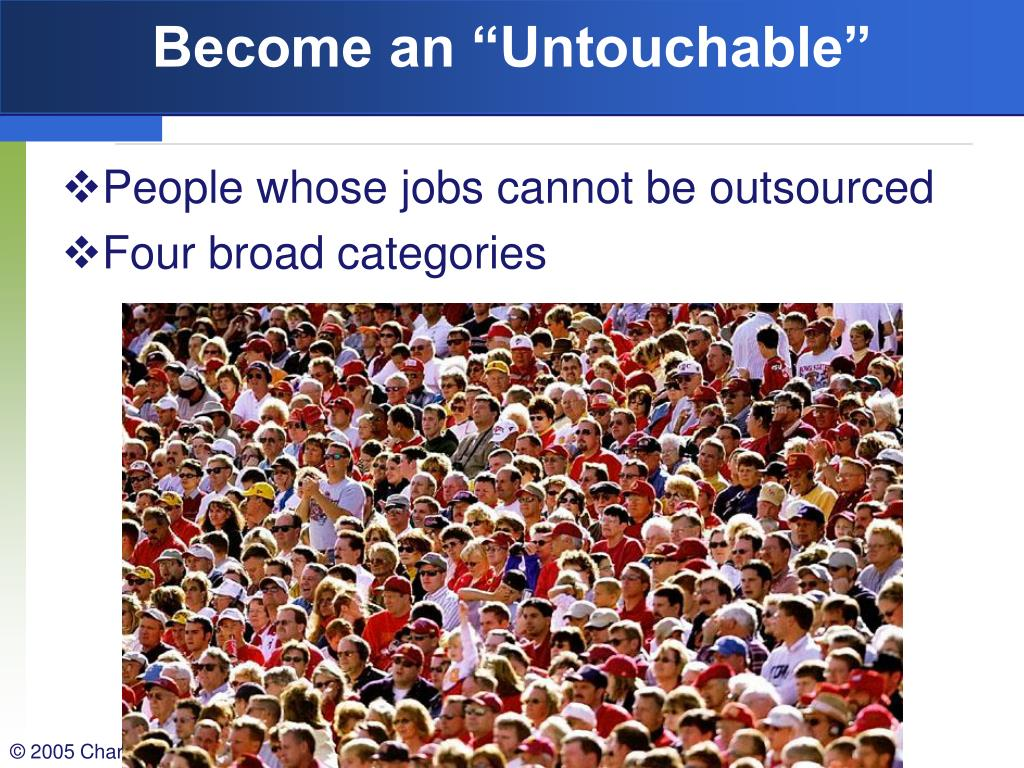 """Become an """"Untouchable"""""""