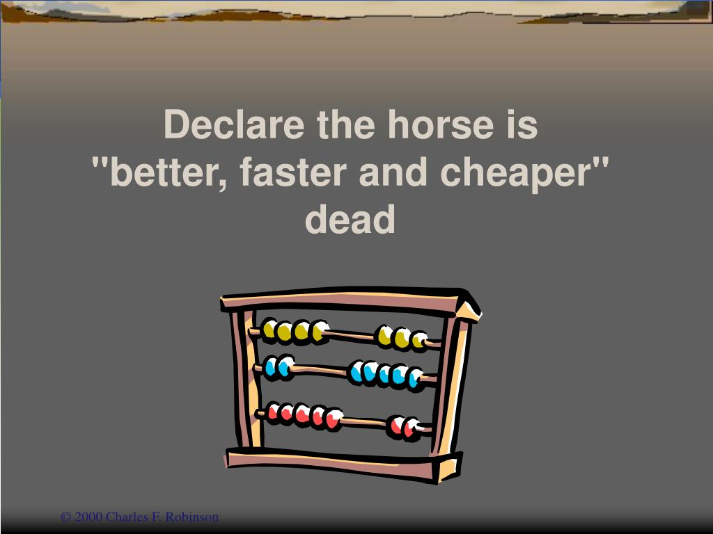 Declare the horse is