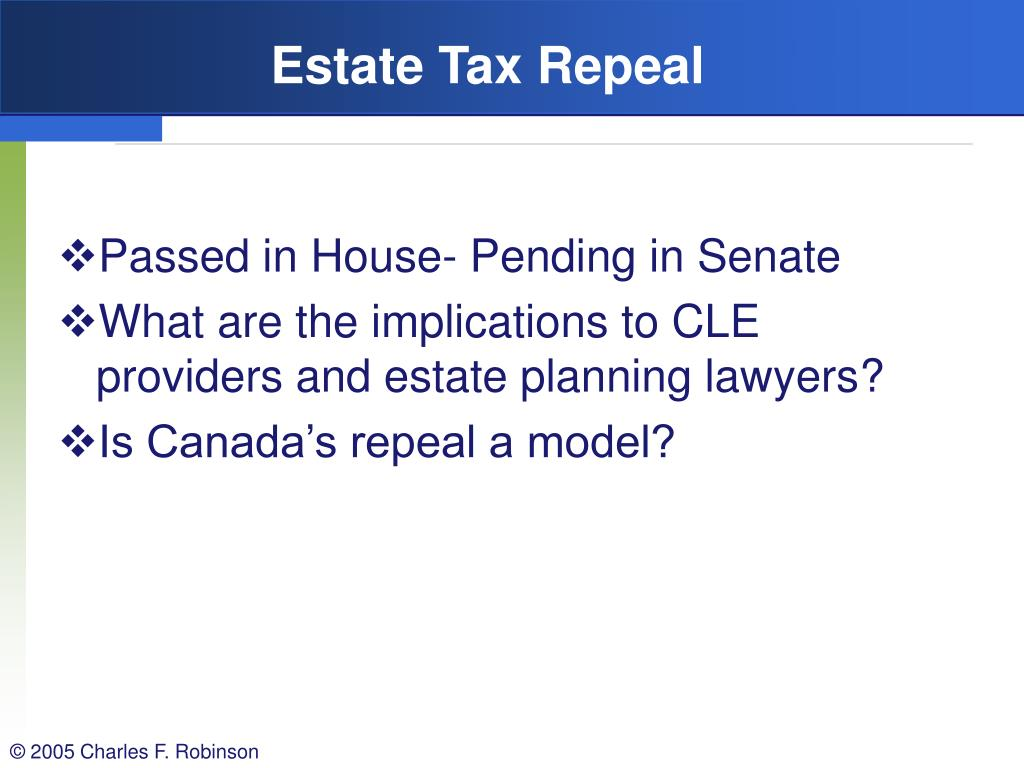 Estate Tax Repeal