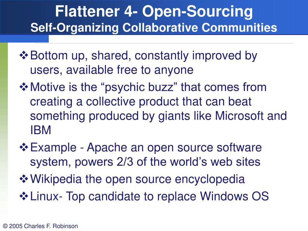 Flattener 4- Open-Sourcing