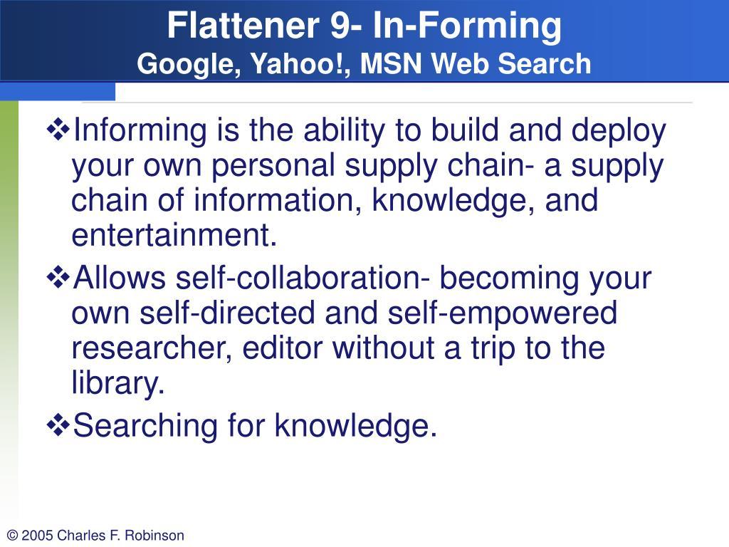 Flattener 9- In-Forming