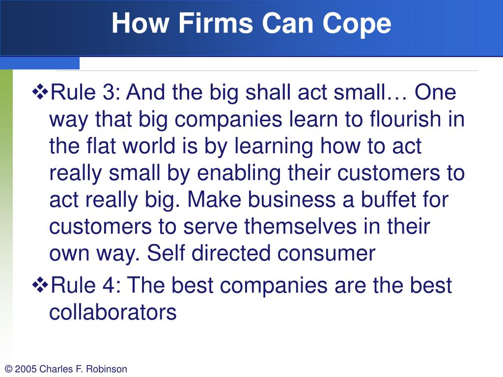 How Firms Can Cope