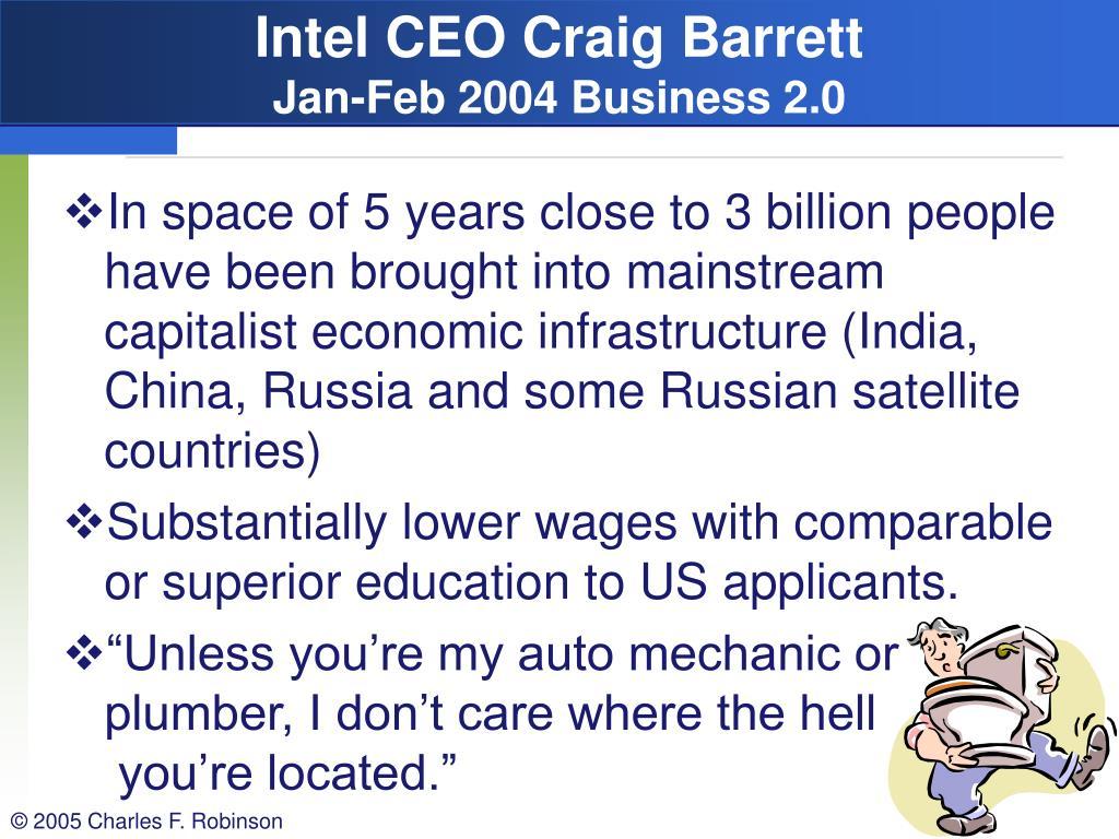 Intel CEO Craig Barrett