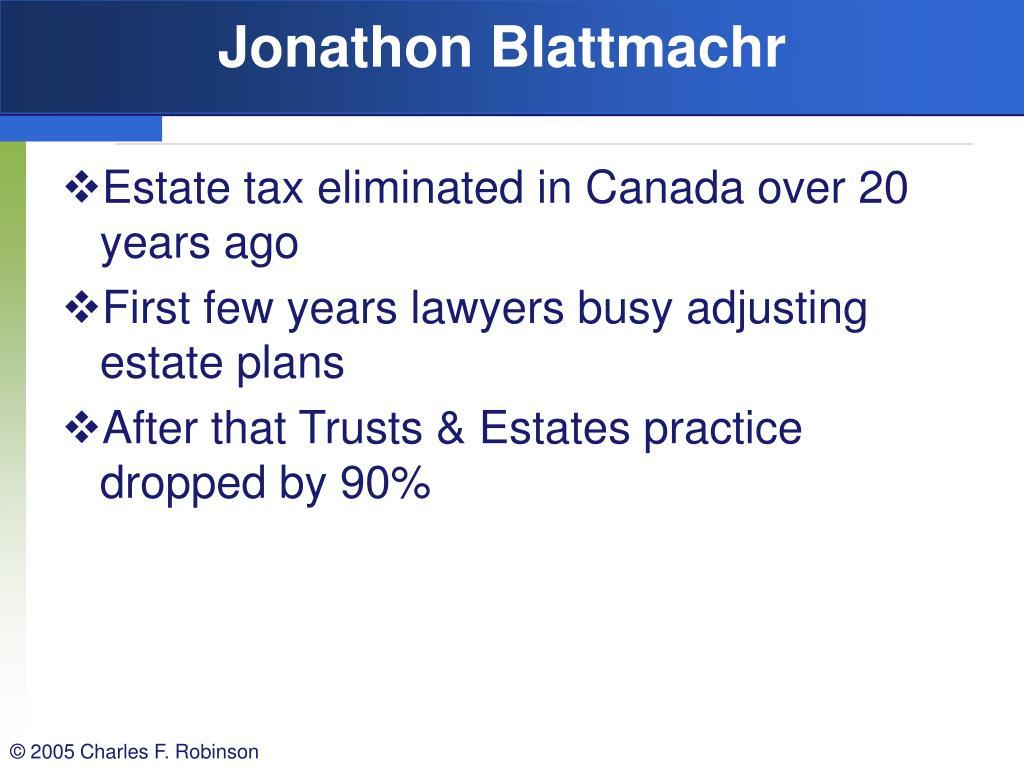 Jonathon Blattmachr