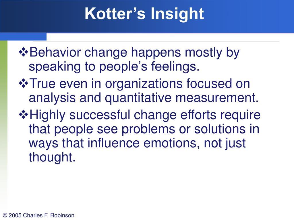 Kotter's Insight