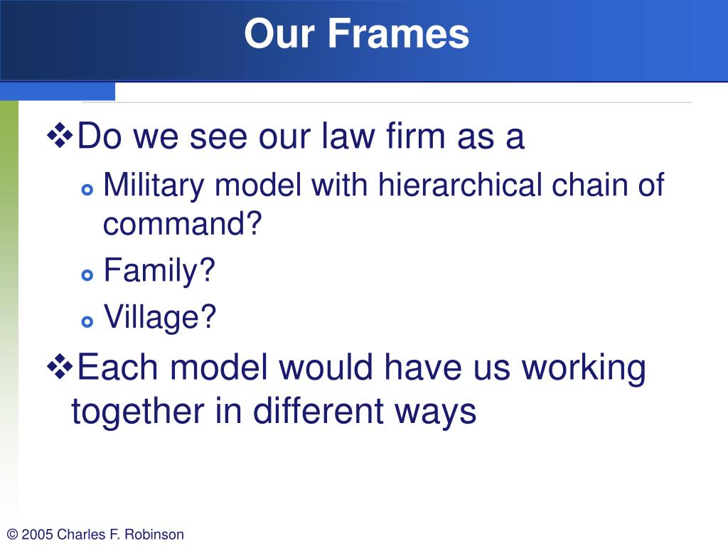 Our Frames