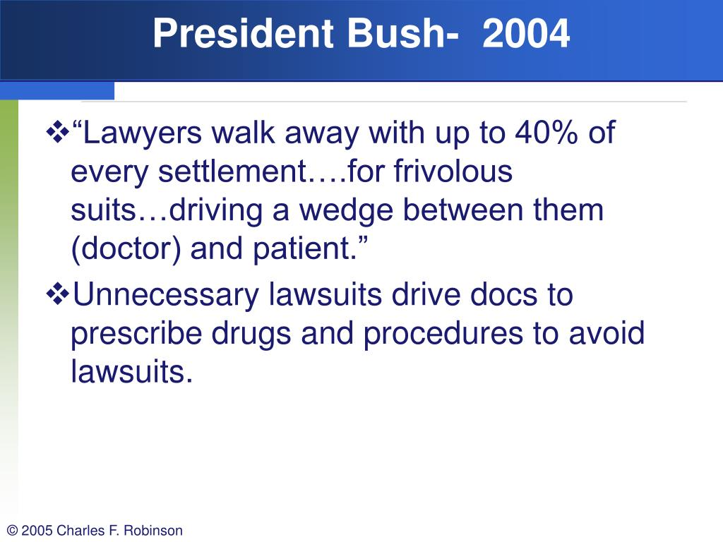 President Bush-  2004