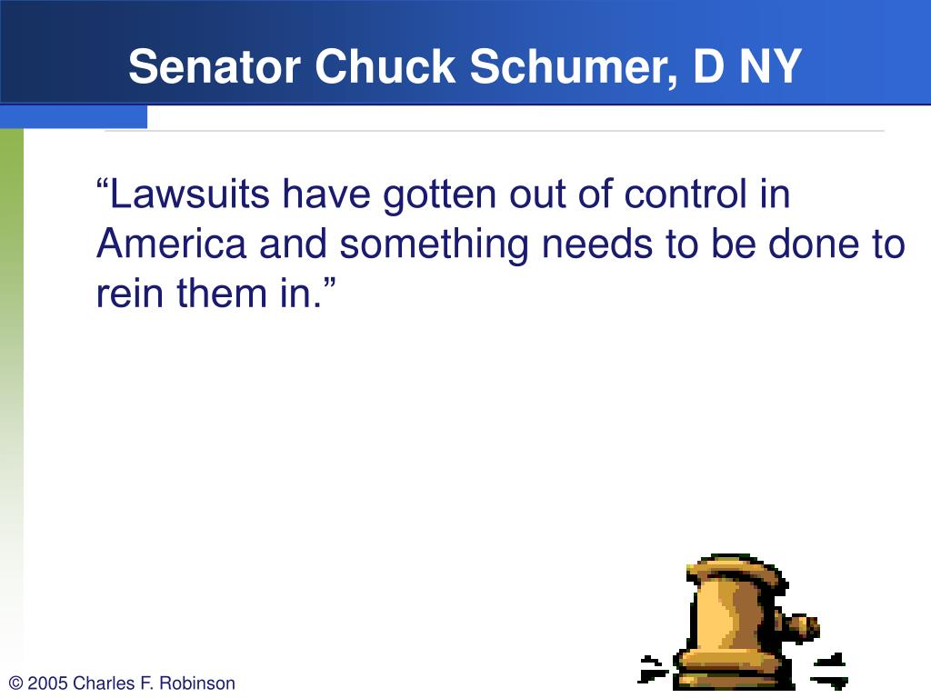 Senator Chuck Schumer, D NY