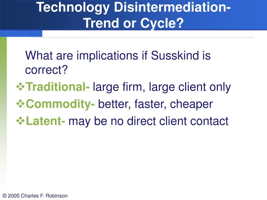 Technology Disintermediation-