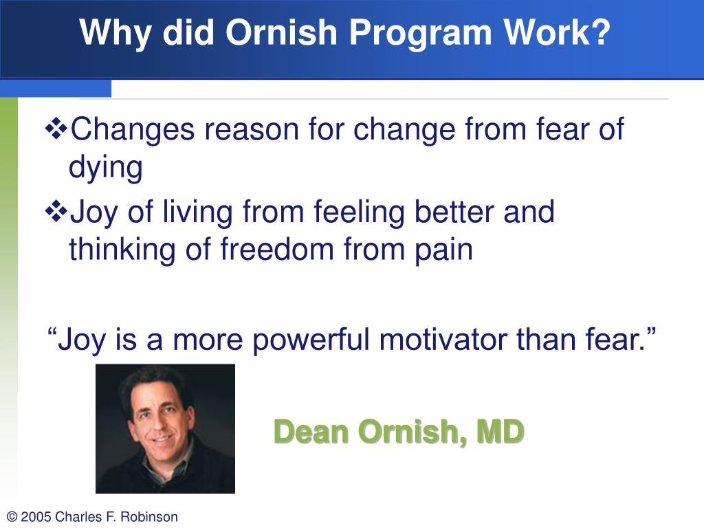 Why did Ornish Program Work?