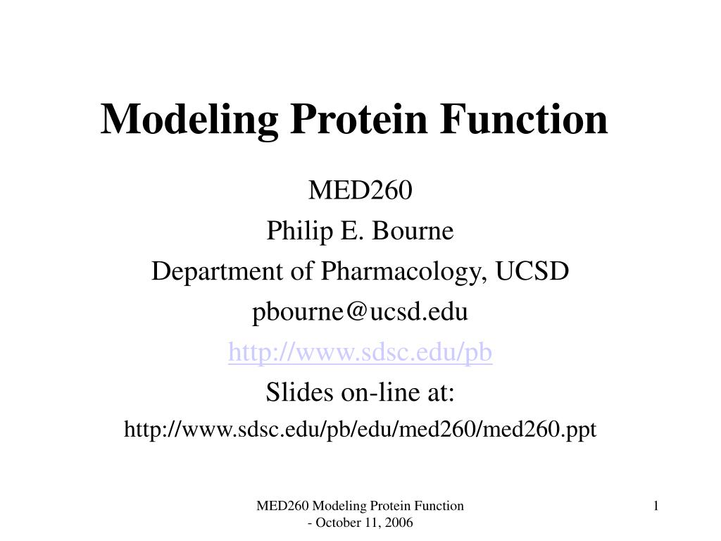 Modeling Protein Function