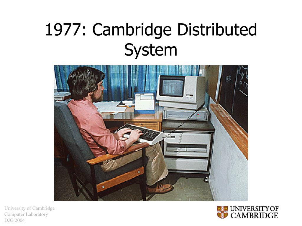 1977: Cambridge Distributed System