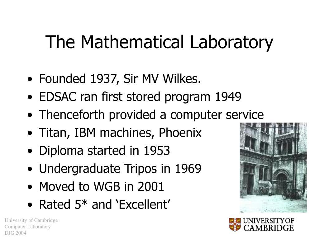 The Mathematical Laboratory