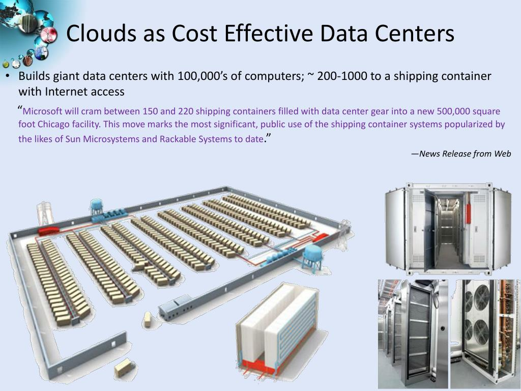 Clouds as Cost Effective Data Centers