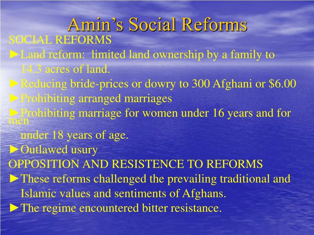 Amin's Social Reforms