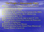 the people s democratic party